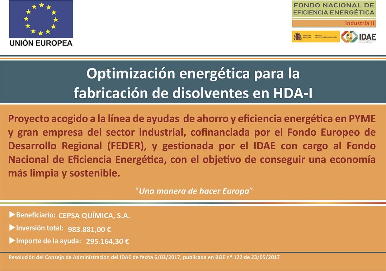 Cartel fabricación disolvente HDA1