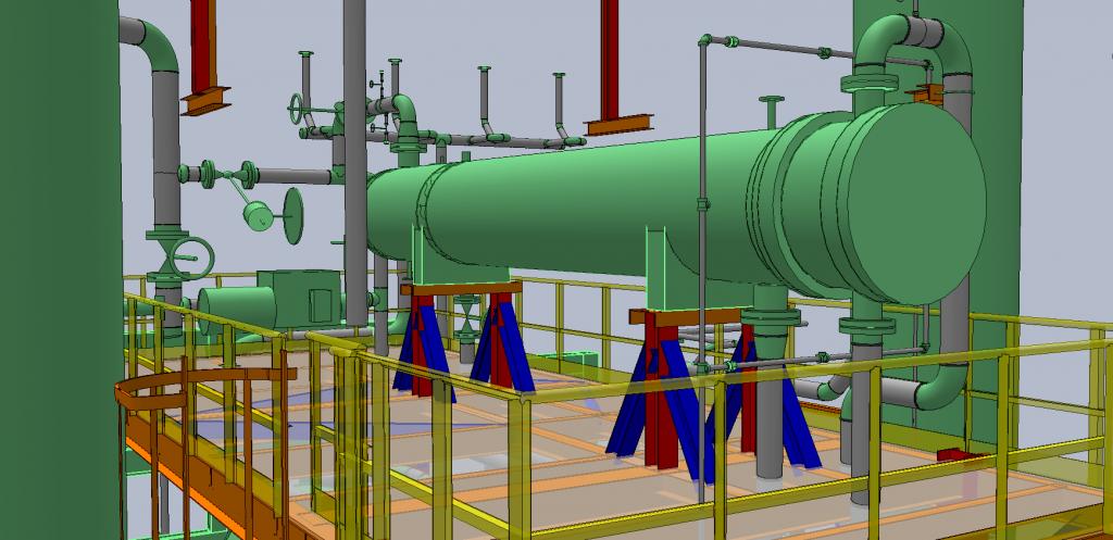 Modelo 3D de un intercambiador de calor